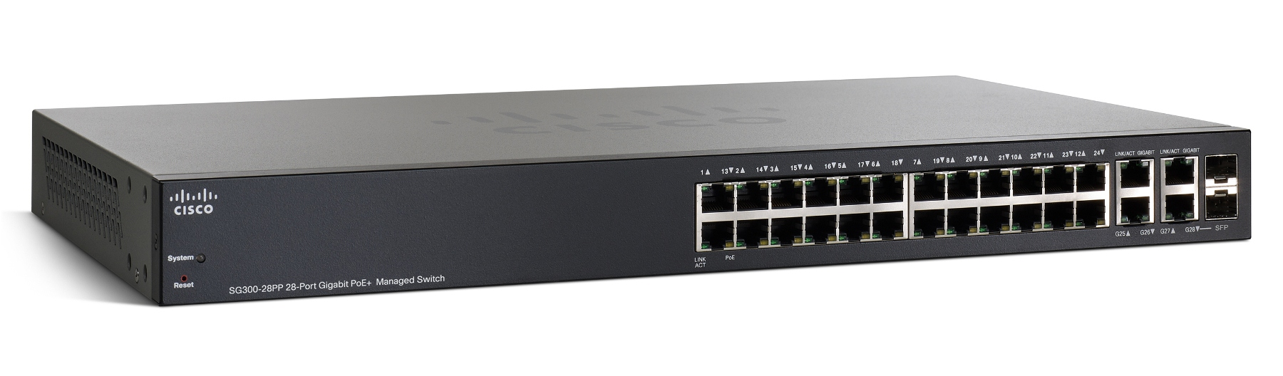 Cisco SG300-28PP 28-port Gigabit PoE+ Managed Switch