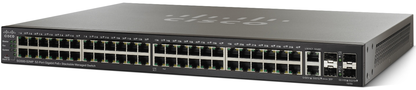 Cisco SG500-52MP, 52xGig, Max PoE+ Managed Switch
