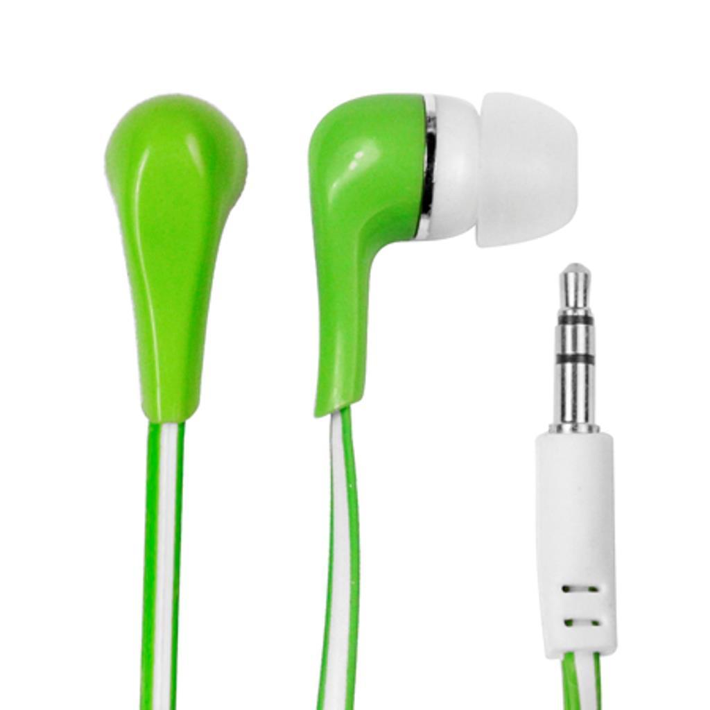 MSONIC Stereofonní sluchátka do uší, silikonová MH132EE zelená