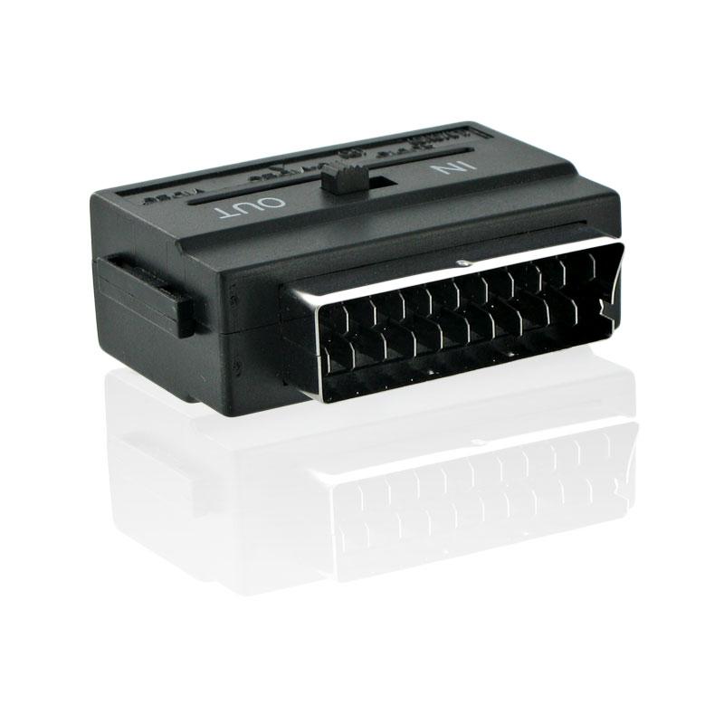 4World Adaptér Scart - SVHS 3x cinch Black