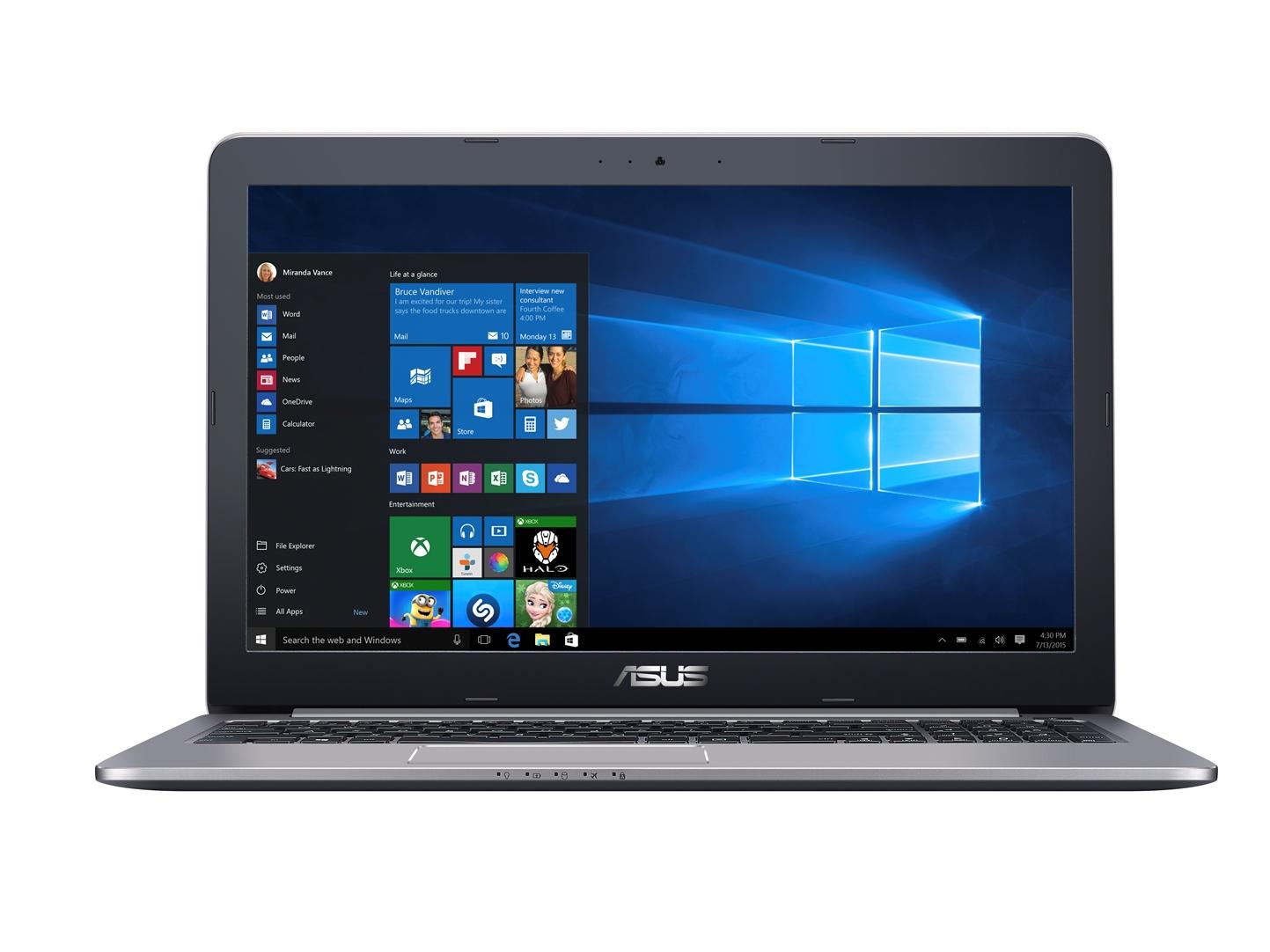 "ASUS K501UW-DM043T i7-6500U/8G/512G SSD SATA3/GTX960M 4G/15,6"" FHD/W10/Grey"