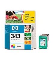 HP CB332EE Ink Cart No.343 pro DJ 5740,6540, 2x7ml, Color, (C8766E 2x)