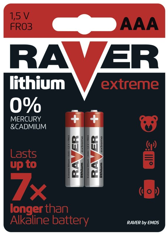 RAVER AAA Extreme lithiová - 2 ks