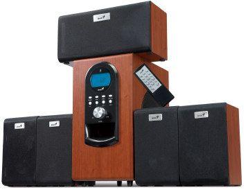 Genius repro SW-HF 5.1 6000, 200W RMS, LCD displej, dark wood