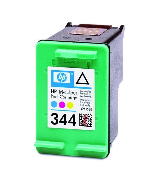 HP C9505EE Ink Cart No.344 pro DJ 5740,6540, 2x14ml, Color, (CC9363E 2x)