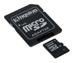 KINGSTON 32GB microSDHC Class 4 karta s adaptérem