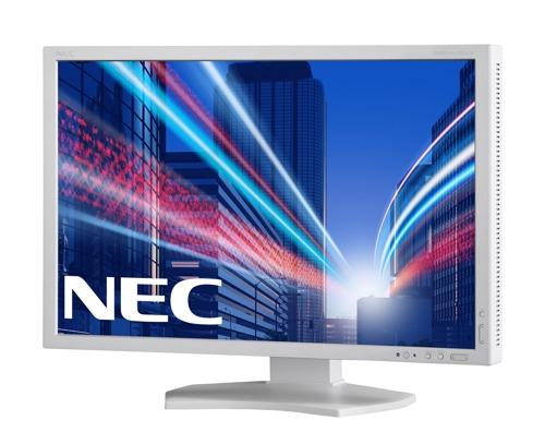 "NEC 24"" P242W - 1920x1200, IPS, W-LED, 350cd, D-sub, DVI, DP, HDMI, USB, bílý"