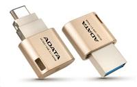 ADATA Flash Disk 16GB USB 3.0, UC350 Type A & Type C USB 3.1(Gen 1), zlatý