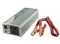 Whitenergy měnič napětí DC 12V-AC 230V 800W + USB