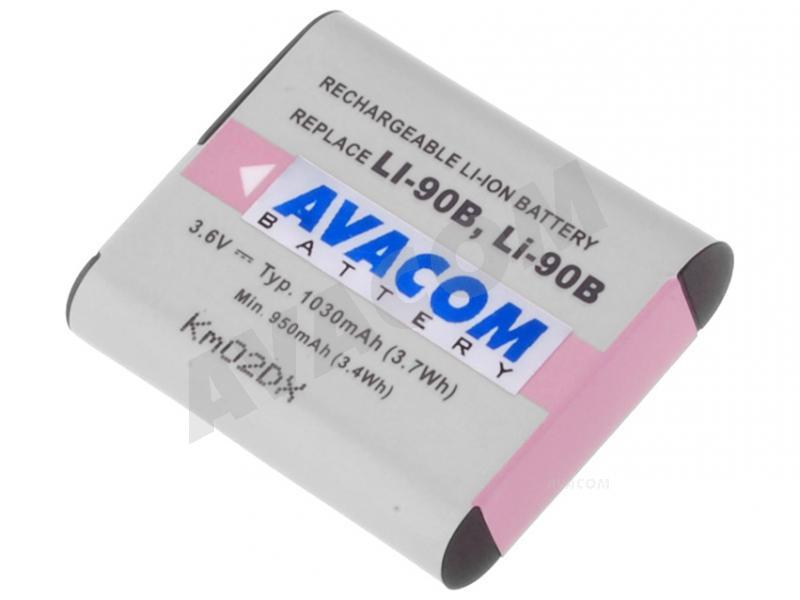 Náhradní baterie AVACOM Olympus LI-90B, LI-92B Li-ion 3.7V 1080mAh 3.9Wh