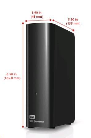 "WD Elements Desktop 4TB Ext. 3.5"" USB3.0, Black"