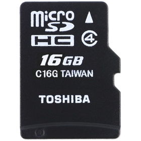 MicroSDHC 16GB CL4 + adap. TOSHIBA
