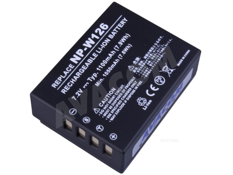 Náhradní baterie AVACOM Fujifilm NP-W126 Li-Ion 7.2V 1100mAh 7.9Wh
