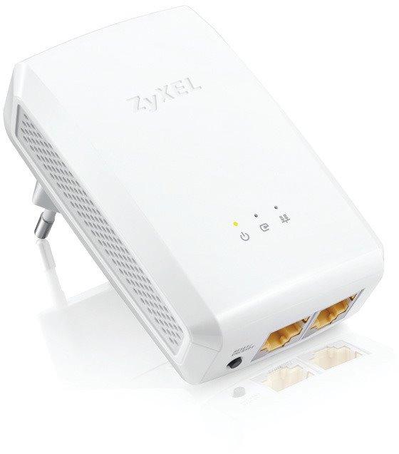Zyxel PLA5206 v2, 1000Mbps Powerline Ethernet Adapter, Directplug design, 128-bit AEC Protection, WPS button, QoS Media