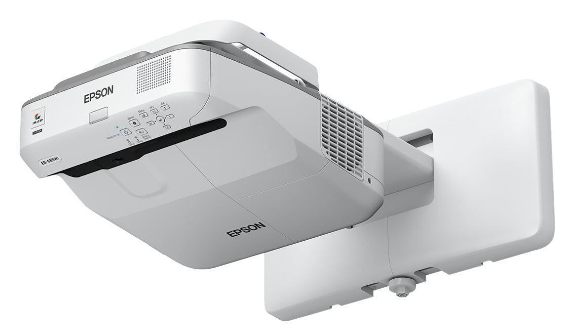 EPSON projektor EB-675W - 1280x800, 3200ANSI, HDMI, VGA, SHORT, LAN,9000h ECO životnost lampy