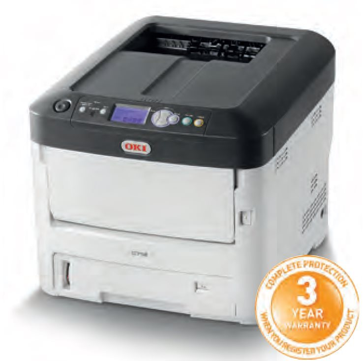 OKI C712dn, A4, barevná, ProQ2400, 36/34ppm,PCL5c,PS3