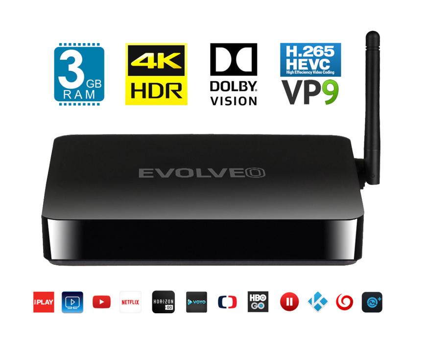 EVOLVEO Android Box H8, Octa Core multimediální centrum