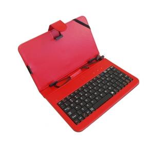 ART AB-101C pouzdro + klávesnice micro+mini USB pro TABLET 7'' červené