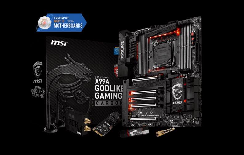 MSI MB Sc LGA2011-3, X99A GODLIKE GAMING CARBON, Intel X99, 8xDDR4, SATA3, USB3.1C, GbLAN, WiFi, BT, E-ATX