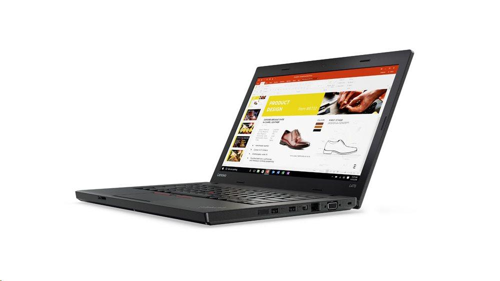 """Lenovo ThinkPad L470 i5-7200U/4GB/500GB-7200/HD Graphics 620/14""""HD/W10PRO/Black"""