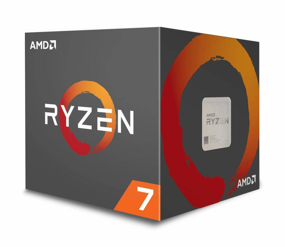 AMD cpu Ryzen 7 1800X Box AM4 (8core, 16x vlákno, 3.6GHz / 4.0GHz, 20MB cache, 95W) bez chladiče
