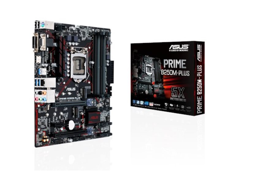 ASUS MB Sc LGA1151 PRIME B250M-PLUS, Intel B250, 4xDDR4, VGA, mATX