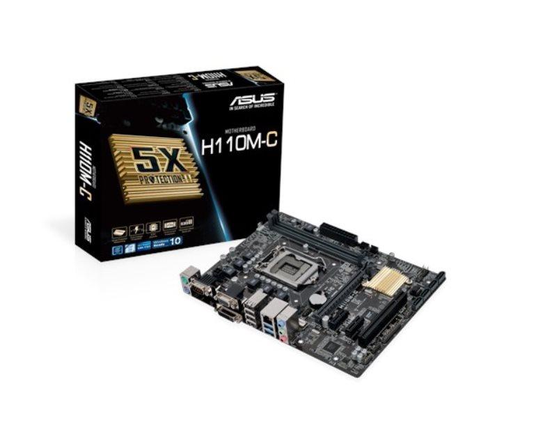 ASUS MB Sc LGA1151 H110M-C, Intel H110, 2xDDR4, VGA, mATX