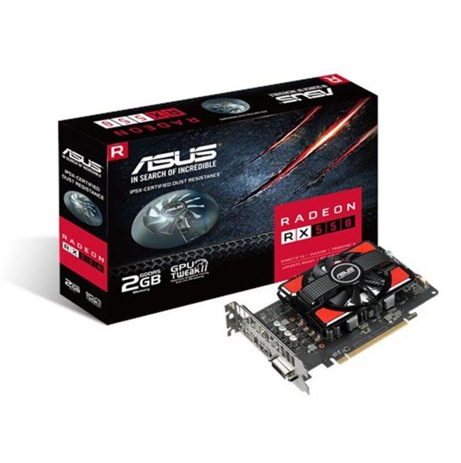 ASUS RX550-2G - 2GB GDDR5 (128 bit), HDMI, DVI, DP