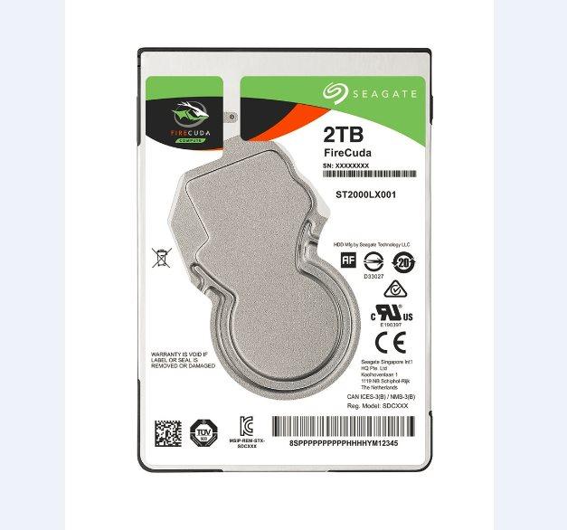 "Seagate FireCuda SSHD, 2TB HDD, 8GB SSD, 2.5"", SATAIII, 128MB cache, 5.400RPM"
