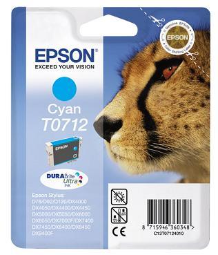 EPSON cartridge T0712 cyan (gepard)