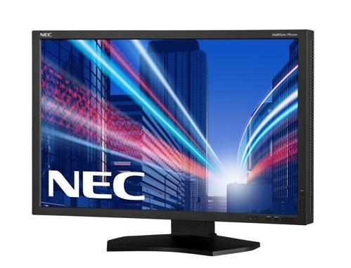 "NEC 24"" P242W - 1920x1200, IPS, W-LED, 350cd, D-sub, DVI, DP, HDMI, USB, černý"
