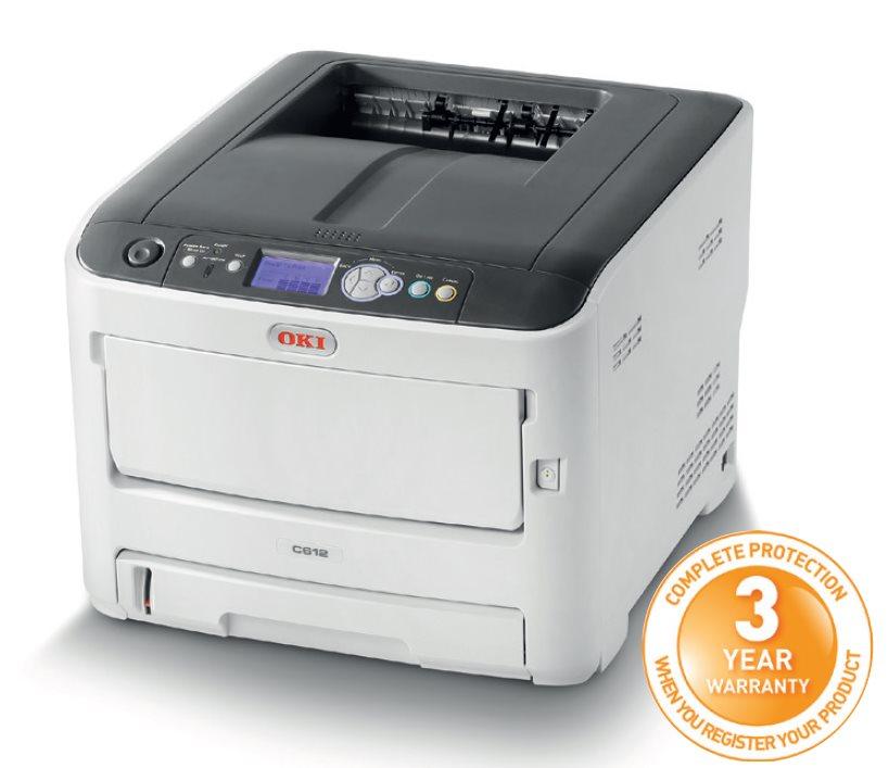 OKI C612dn, A4, barevná, ProQ2400, 36/34ppm,PCL5c,PS3