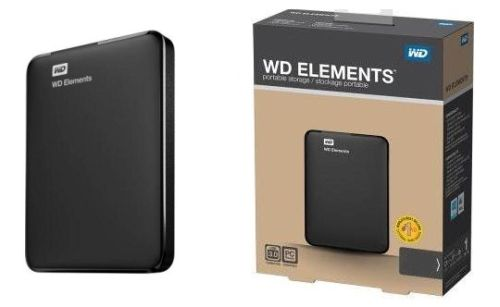 "WD Elements Portable 500GB Ext. 2.5"" USB3.0, Black"