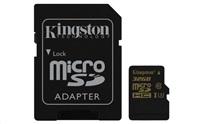 Kingston 32GB Micro SecureDigital (SDHC) Card Gold, UHS-I, 90r/45w + SD adapter