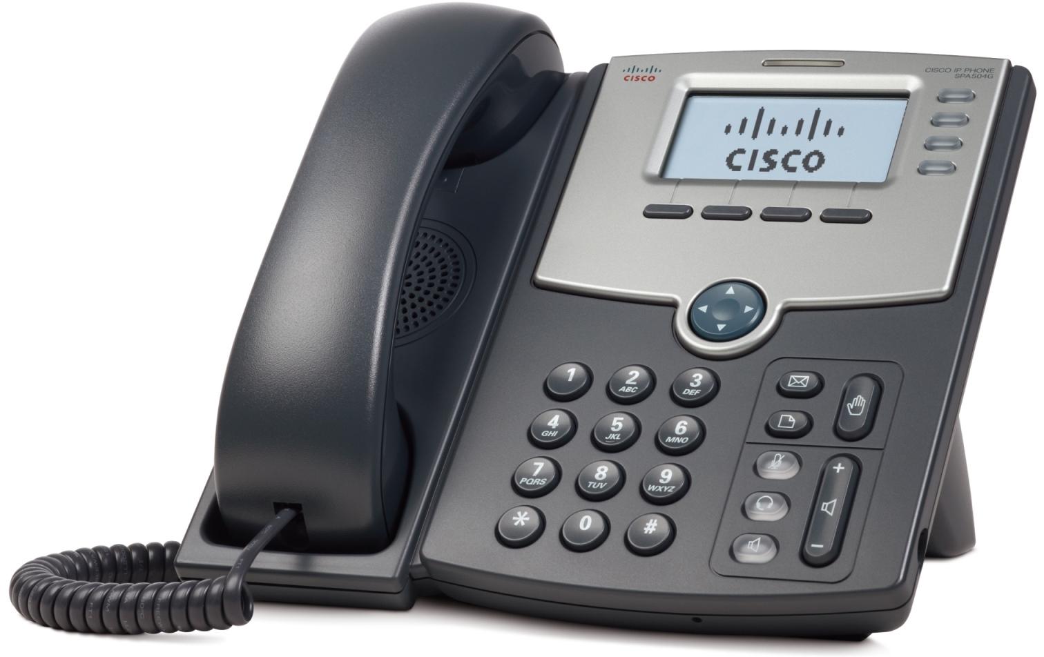 Cisco 4 Line IP tel., Display,PoE,PC Port, SPA504G