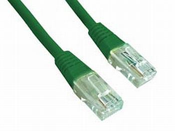 Gembird Patch kabel RJ45, cat. 5e, UTP, 1m, zelený
