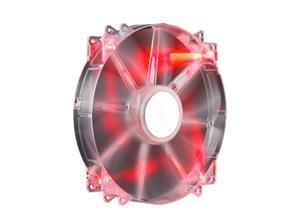 větrák Cooler Master 200x200x30 Mega Flow, LED červená transparent 19dBA