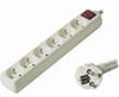 PremiumCord prodlužovací přívod 230V, 3m, 6 zásuvek+vypínač