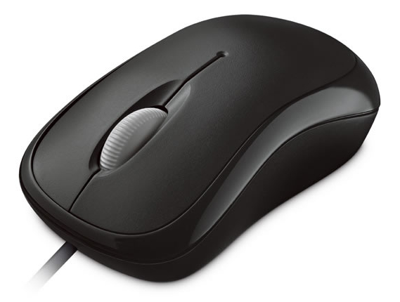 Basic Optical Mouse Mac/Win USB Black
