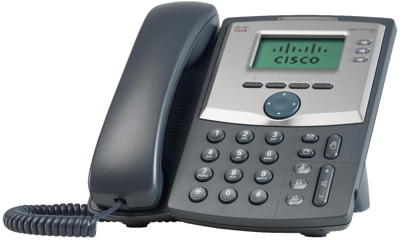 Cisco 3 Line IP tel., Display, PC port, SPA303-G2
