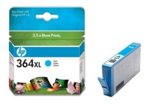 HP 364 XL - azurová inkoustová kazeta, CB323EE