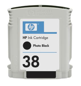 HP 38 Black Photo Ink Cart, 27 ml, C9413A