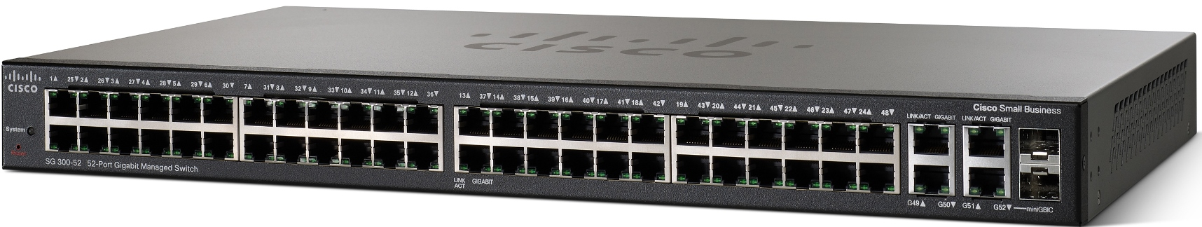 Cisco SG300-52, 50xGigabit + 2x SFP Switch