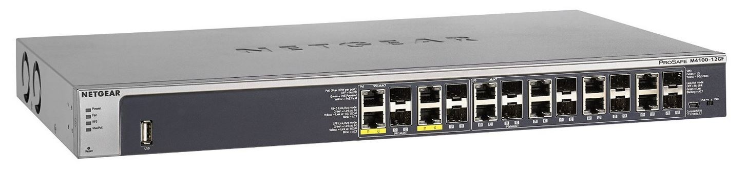Netgear M4100-12GF L2+ Managed Switch 12-Port SFP Gigabit (GSM7212F)