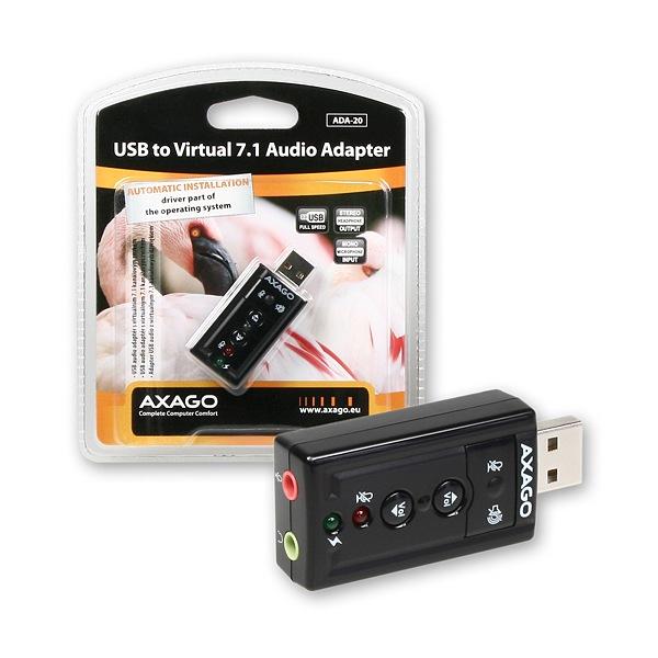 AXAGO - ADA-20 USB2.0 - virtual 7.1 audio adapter