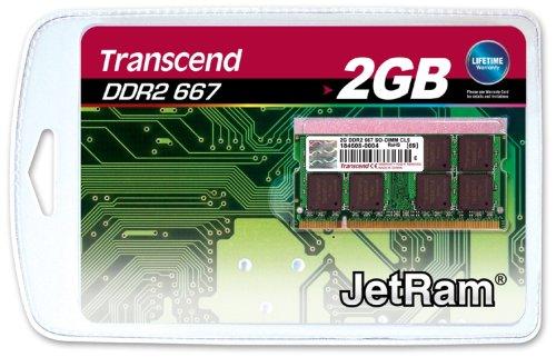 Transcend JetRam 2GB 667MHz DDR2 CL5 SODIMM
