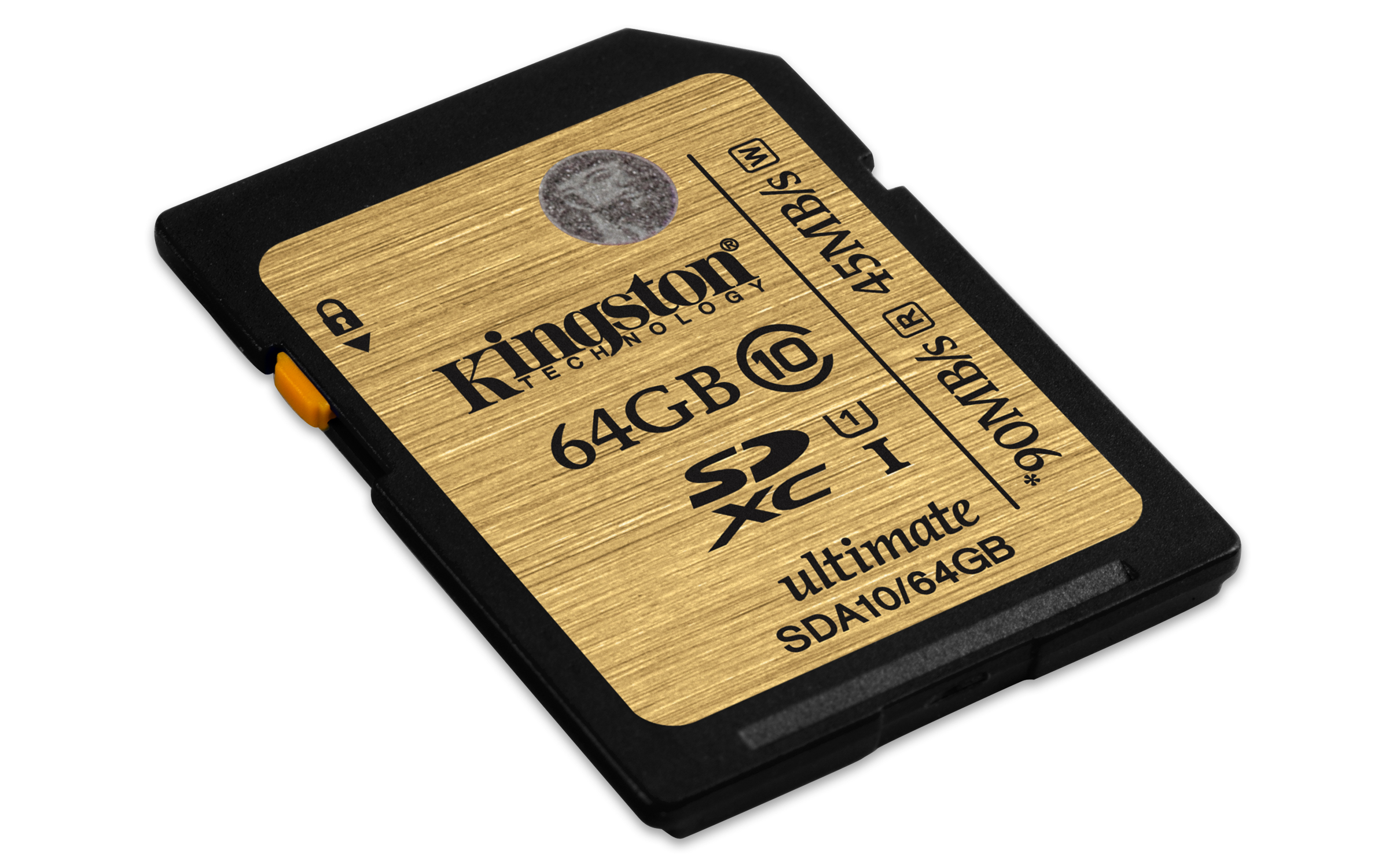 KINGSTON 64GB SDXC Class 10 UHS-I 90MB/s R, 45MB/s W Flash Card