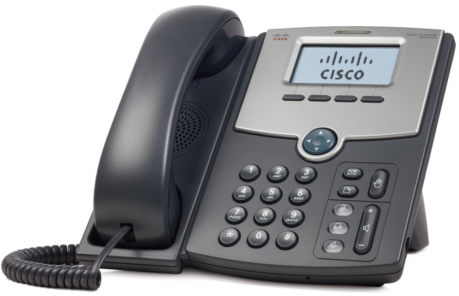Cisco 1 Line IP tel., Display,PoE,PC Port, SPA502G