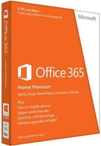 PROMO_OFFICE 365 HOME PREMIUM CZ (PRO DOMÁCNOSTI, 1ROK) + Microsoft myš L2 Sculpt Comfort Mouse Bluetooth Black