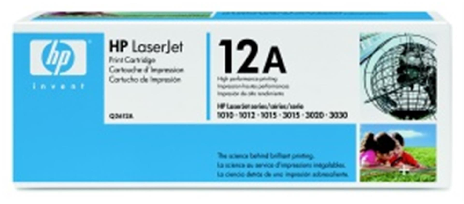HP Q2612A Toner 12A pro LJ 1010/12/15/18/20/22, 3015/20/30, (2000str), Black